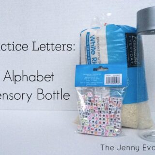 DIY Learning Alphabet Sensory Bottles