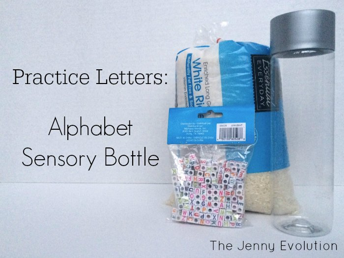 DIY Learning Alphabet Sensory Bottles | The Jenny Evolution