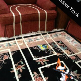 Nothing But Tape: Fast, Easy Indoor Race Car Track for Kids