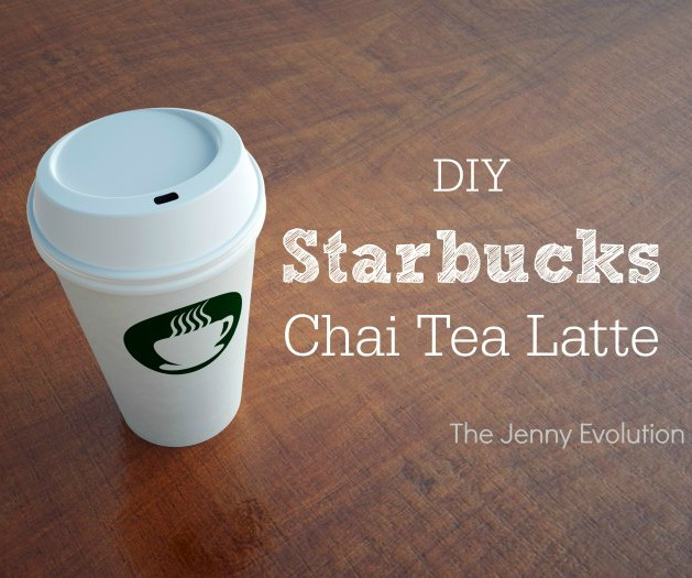 DIY Starbucks Chai Tea Latte Recipe - Copycat Recipe from The Jenny Evolution