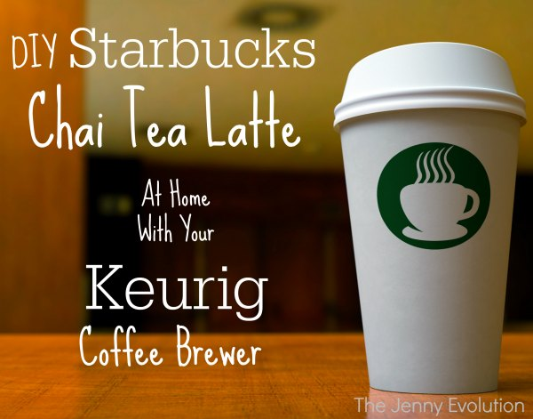 DIY Starbucks Tazo Chai Tea Latte Recipe with a Keurig coffee brewer | Mommy Evolution