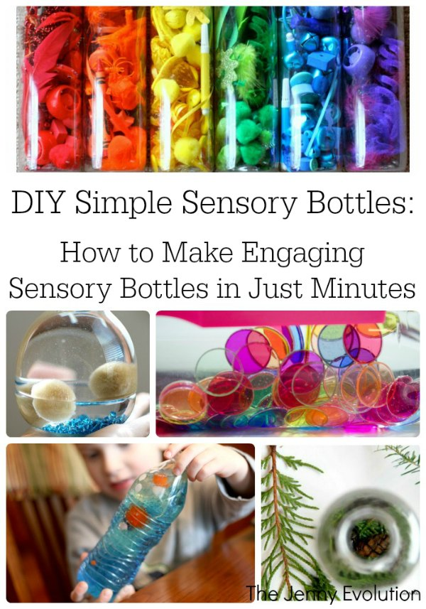 DIY Simple Sensory Bottles | Mommy Evolution
