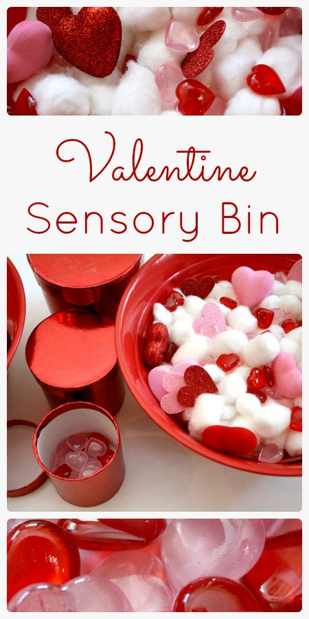 Valentine Sensory Bin and Learning Activities. Click for more #sensory bin ideas for #ValentinesDay