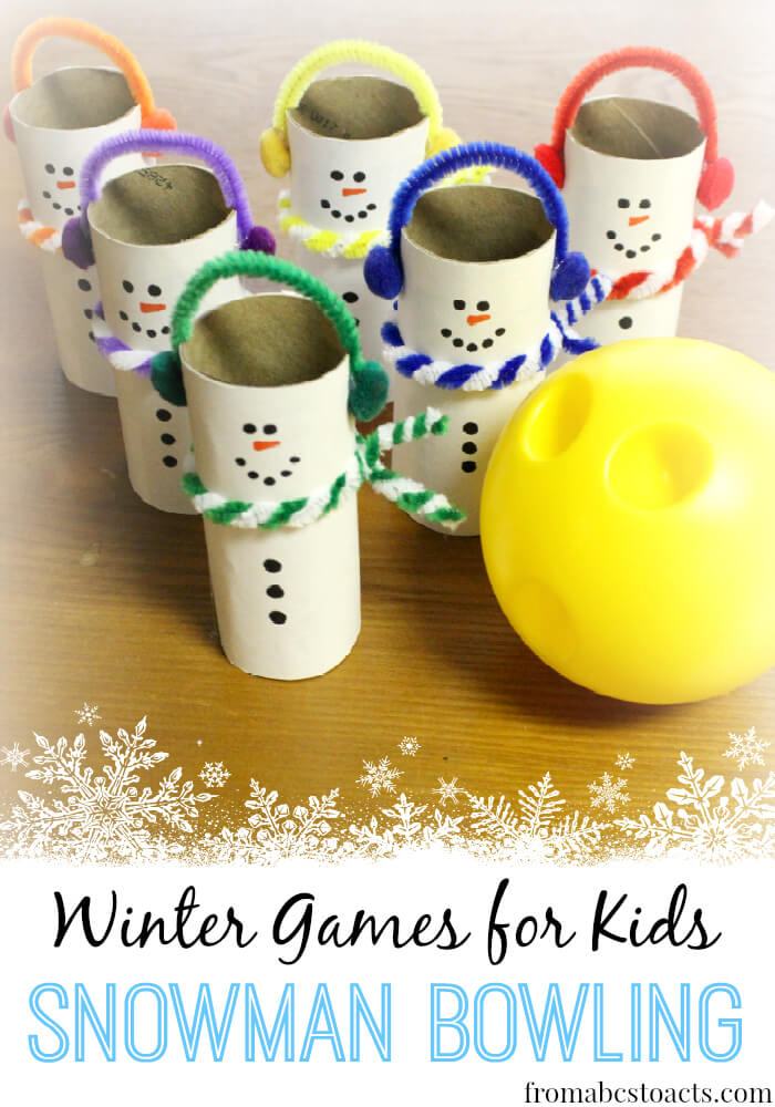 Isn't this the most adorable activity? Snowman Bowling - Winter Games