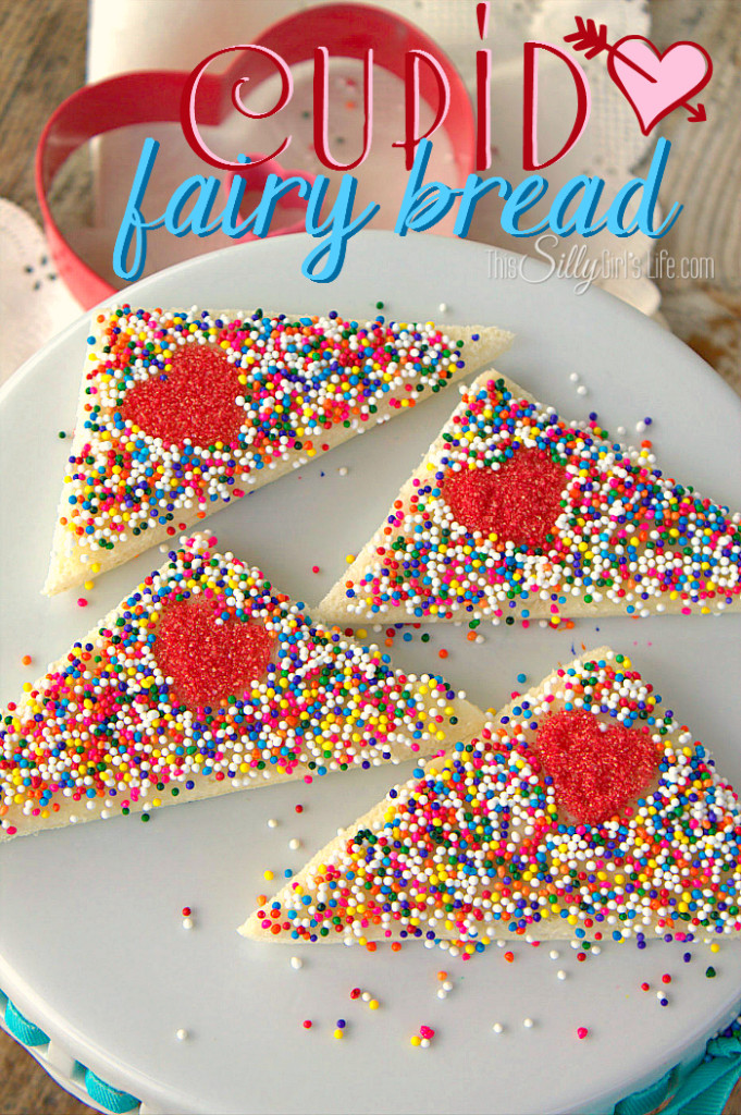 Cupid Fairy Bread. Adorable Recipe from This Silly Girl's Life