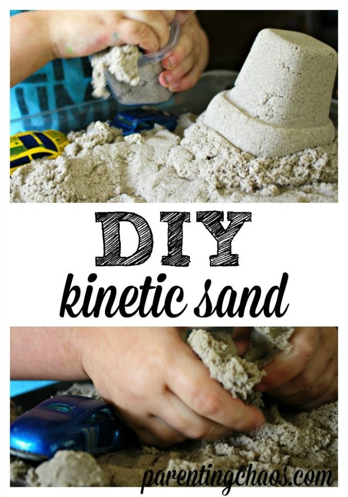 DIY Kinetic Sand Tutorial from Parenting Chaos