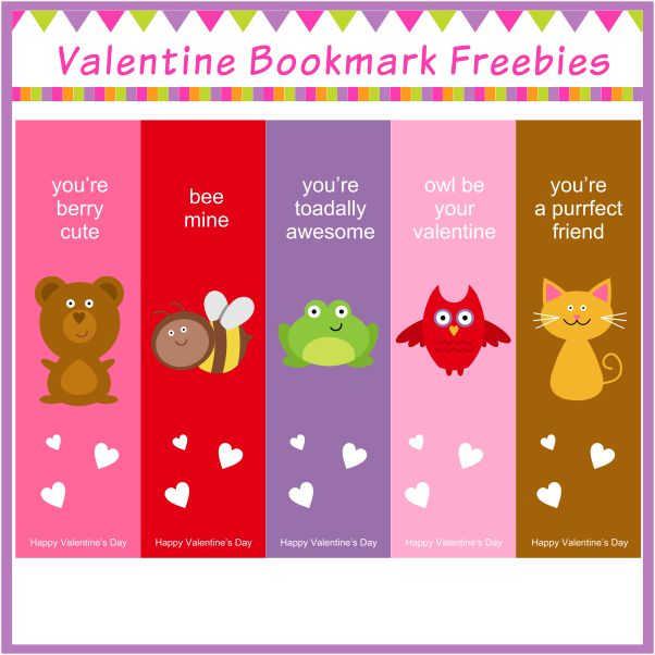 15 FREE Valentines Day Bookmark Printables