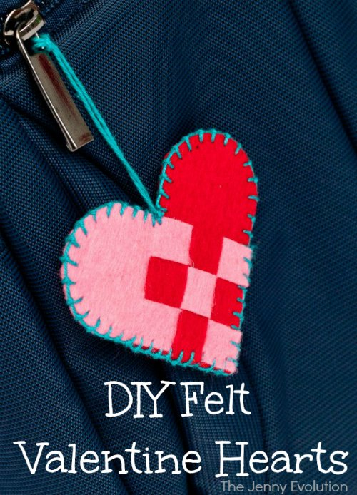 DIY Felt Valentine Hearts | Mommy Evolution