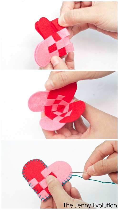 DIY Felt Valentine Hearts | The Jenny Evolution