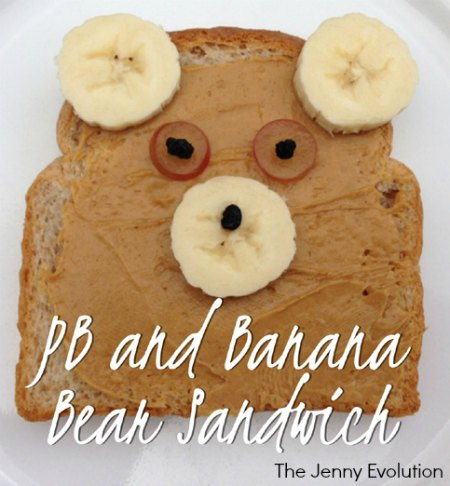 PB and Banana Bear Sandwich - Fun Foods for Kids! | The Jenny Evolution