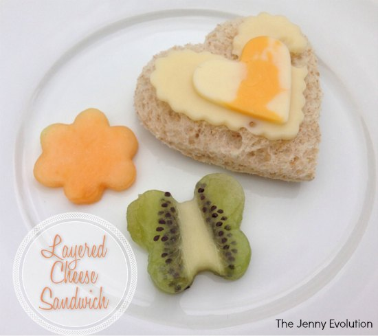 Layered Cheese Heart-Shaped Sandwiches: Fun Food for Kids! | The Jenny Evolution