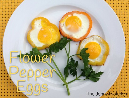 Flower Pepper Eggs: Fun Food with Kids | The Jenny Evolution