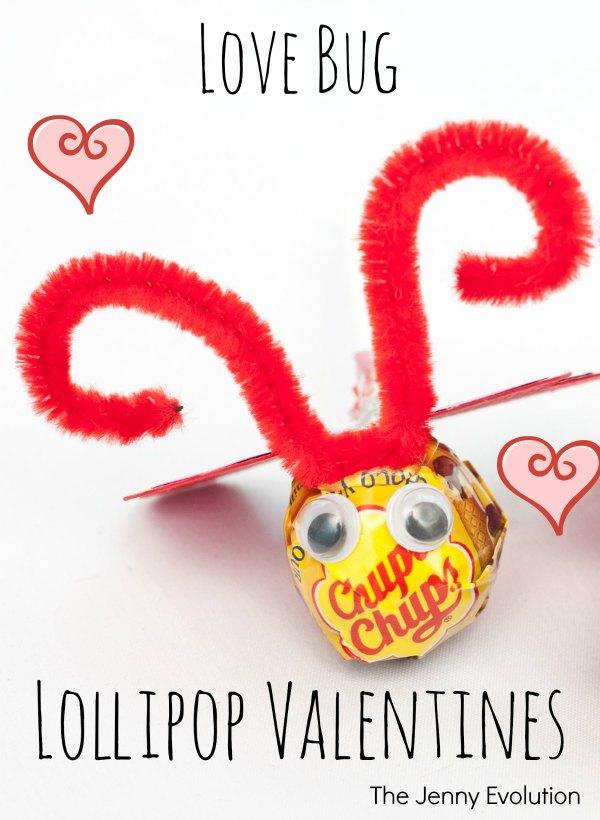 Handmade Love Bug Lollipop Valentines | The Jenny Evolution