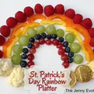 St. Patrick's Day Rainbow Foods Platter: Fun Food for Kids!