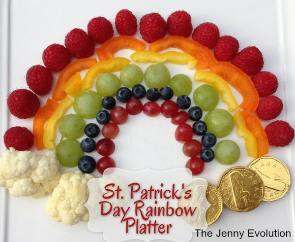 St. Patrick's Day Rainbow Platter: Fun Food for Kids! | Mommy Evolution