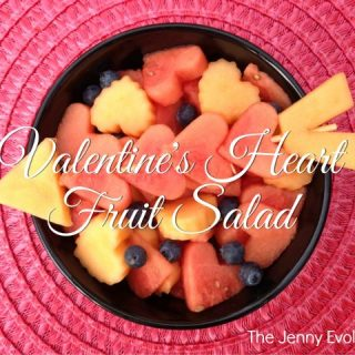 Valentine's Day Heart Fruit Kabobs and Fruit Salad | The Jenny Evolution
