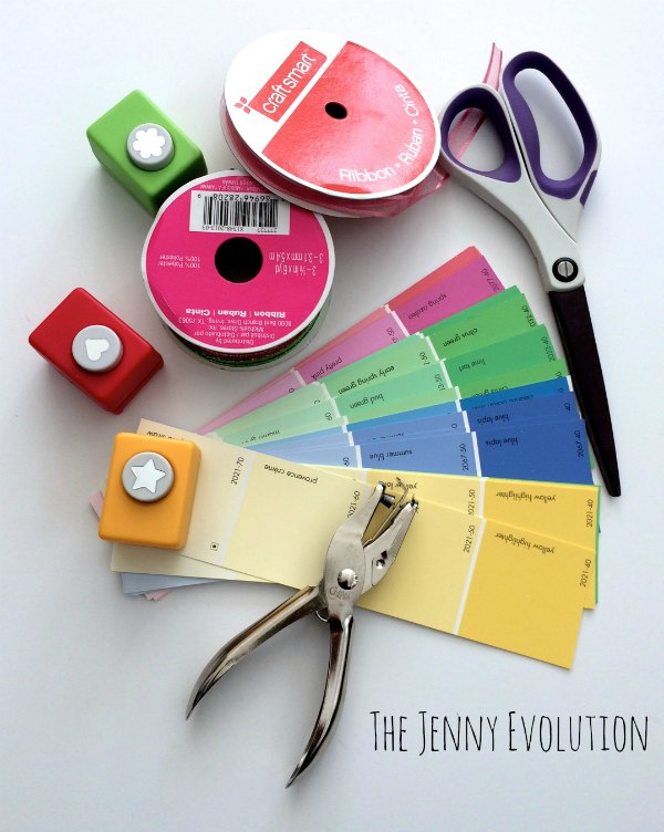 Upcycled DIY Paint Chip Bookmarks | The Jenny Evolution