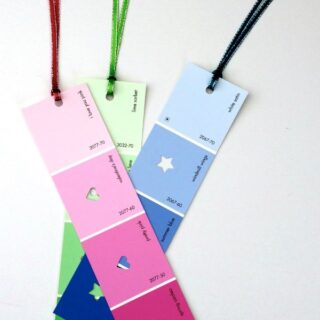 Upcycled DIY Paint Chip Bookmarks