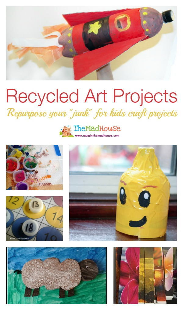Recycled Art Projects Compiled by The Mad House