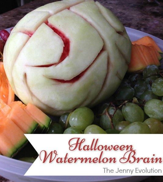 Scary Foods! Halloween Watermelon Brain | The Jenny Evolution