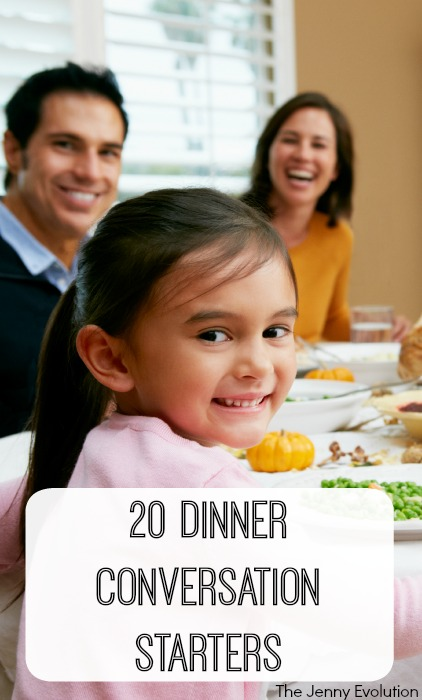 20 Perfect Dinner Conversation Starters for Your Family and Kids | Mommy Evolution