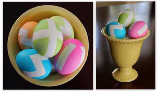 DIY Chevron Easter Eggs   BonBon Rose Girls