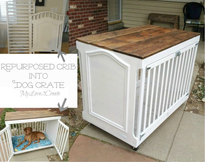 This is crazy cool! Turn a Repurposed Crib Into a Dog Crate. Tutorial from My Love 2 Create