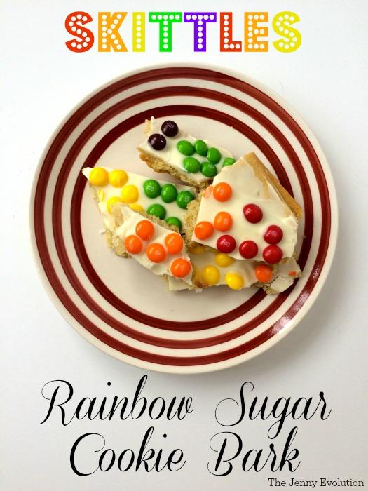 Skittles Rainbow Sugar Cookies Bark Recipe