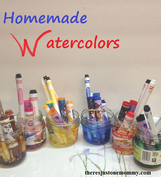 Homemade Watercolors from Old Markers. Tutorial from There's Just One Mommy