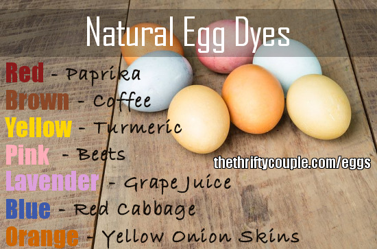Natural Egg Dyes   The Thrifty Couple