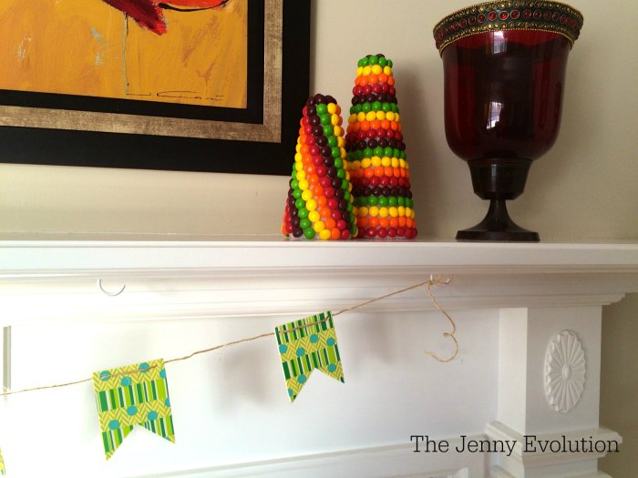 St. Patrick's Day Skittles Decorations from Mommy Evolution