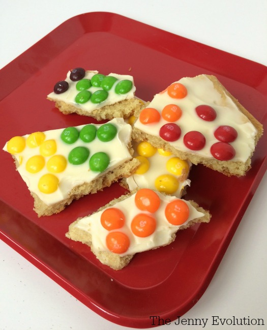 Skittles Rainbow Sugar Cookies Bark Recipe | The Jenny Evolution
