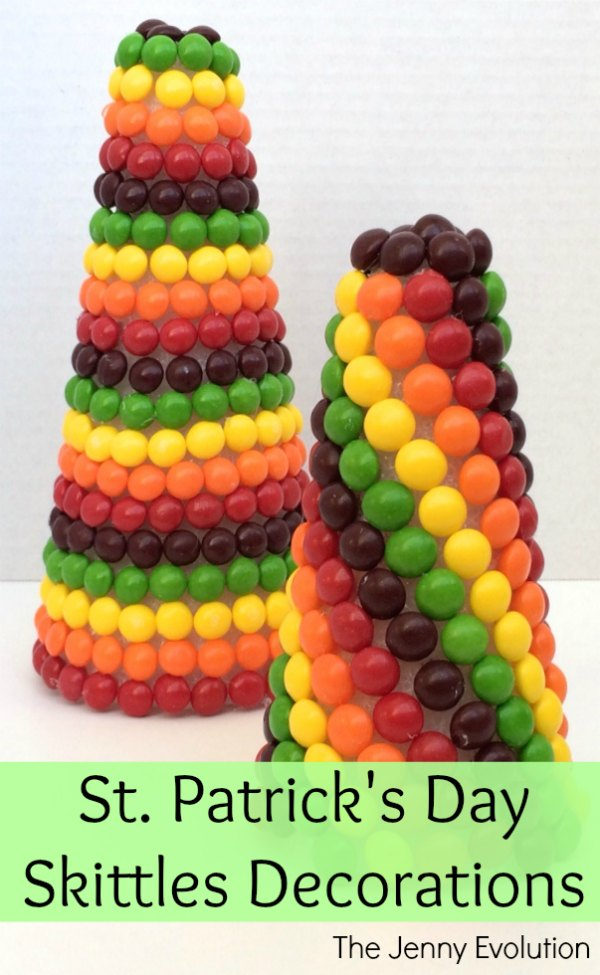 St. Patrick's Day Skittle Rainbow Decorations | Mommy Evolution