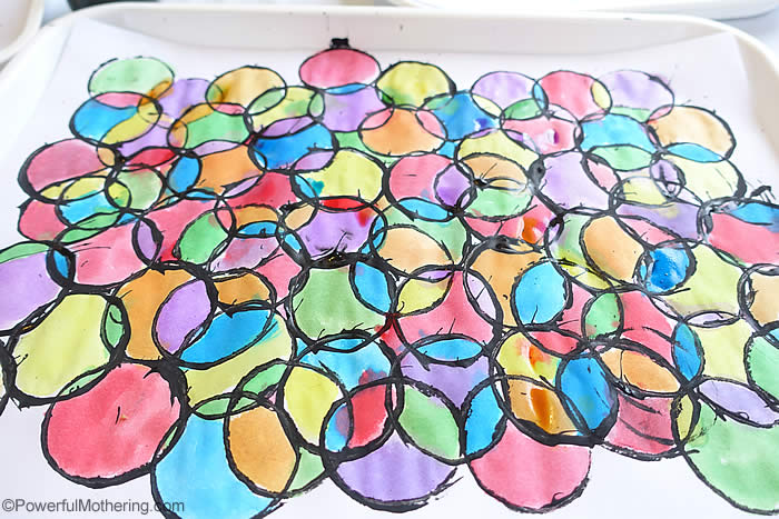 Stained Glass Art with Toilet Paper Rolls. My kiddos would love this! Craft from Powerful Mothering