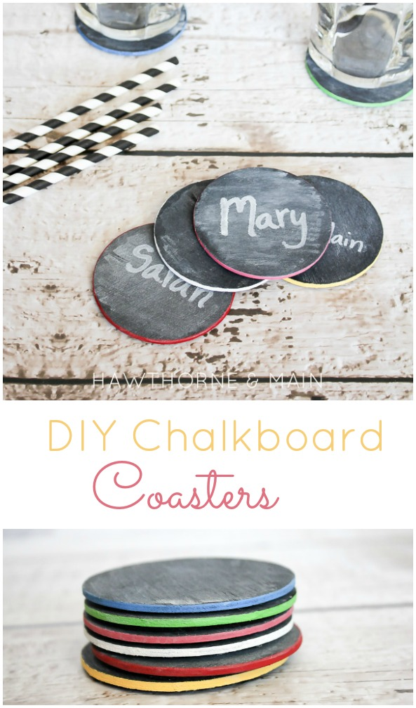DIY Chalkboard Coasters Tutorial from This Silly Girl's Life