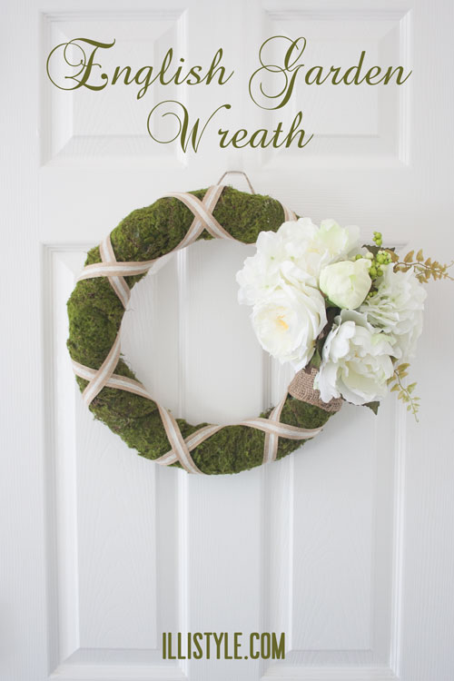 English Garden Wreath. Tutorial from Illistyle