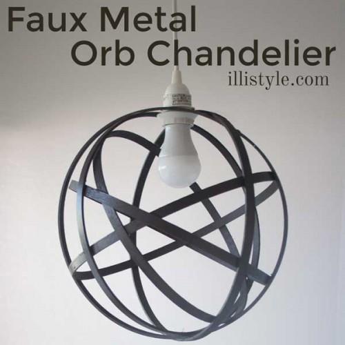 Faux Metal Orb Chandelier. DIY Tutorial from Illistyle