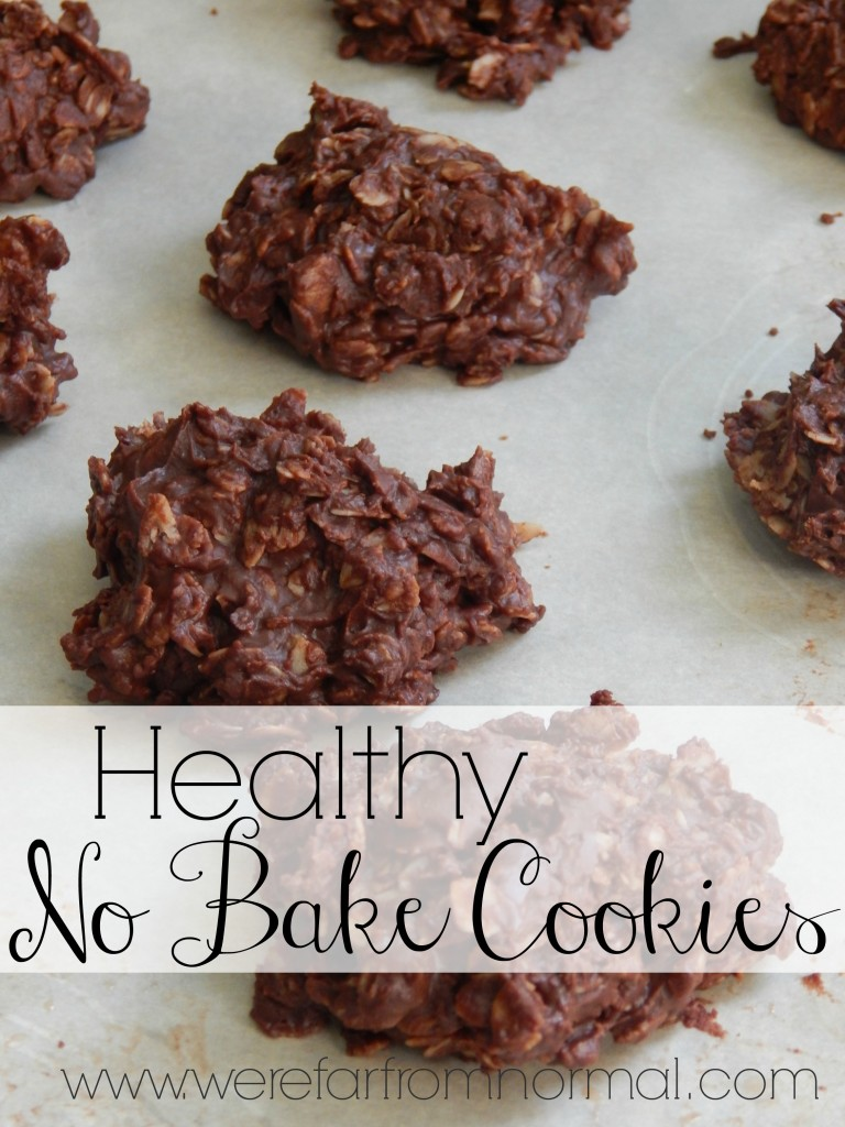 Healthy No-Bake Cookies. Recipes from We're Far From Normal