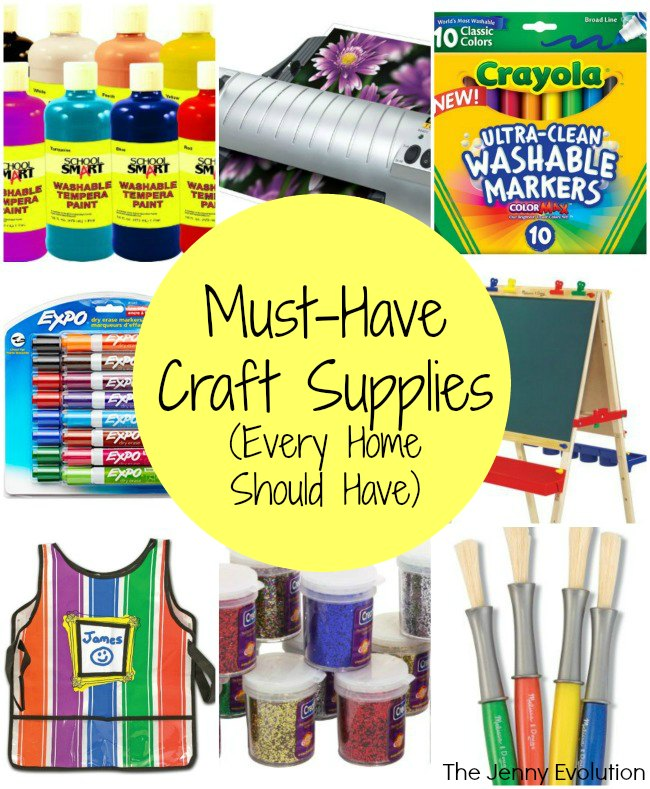 Must Have Craft Supplies Every Home Should Have - As Recommended by a Crafting Mom | Mommy Evolution
