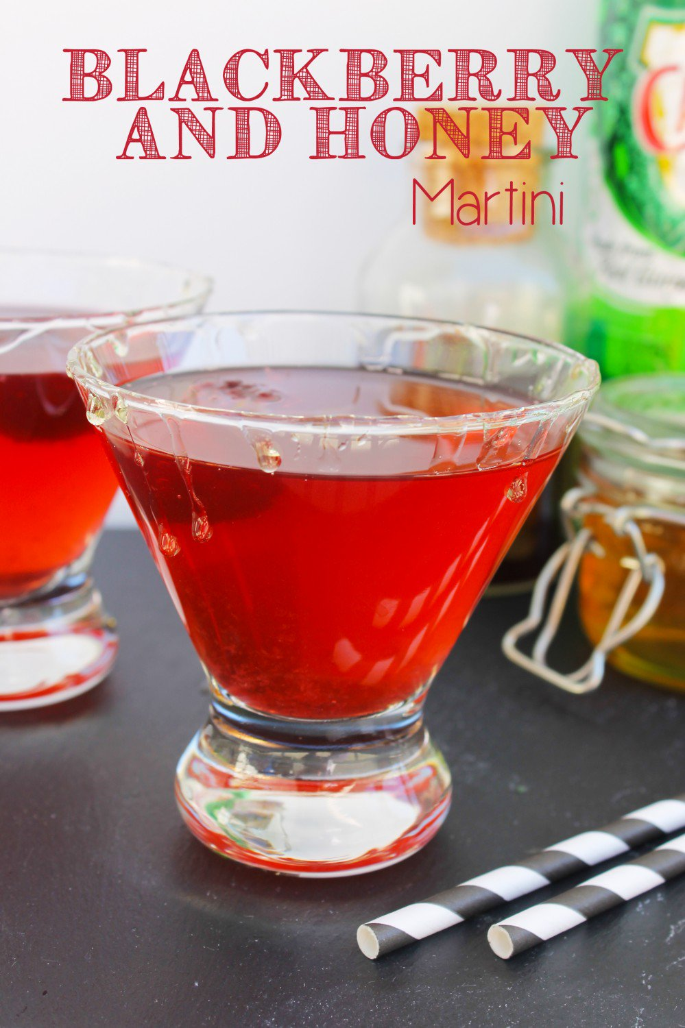 Blackberry and Honey Martini. Recipe from Lipgloss and Crayons