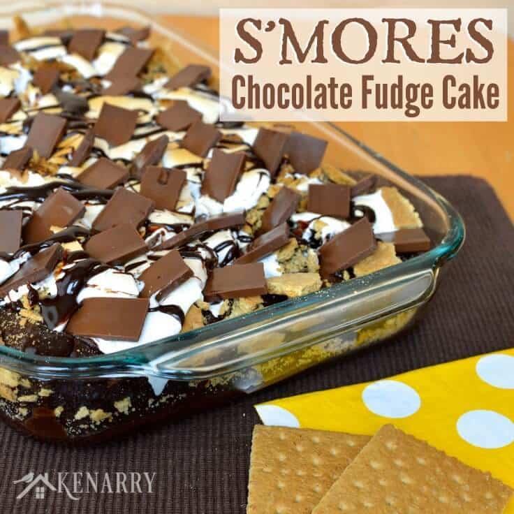 S'mores Chocolate Fudge Cake Recipe from Kenarry