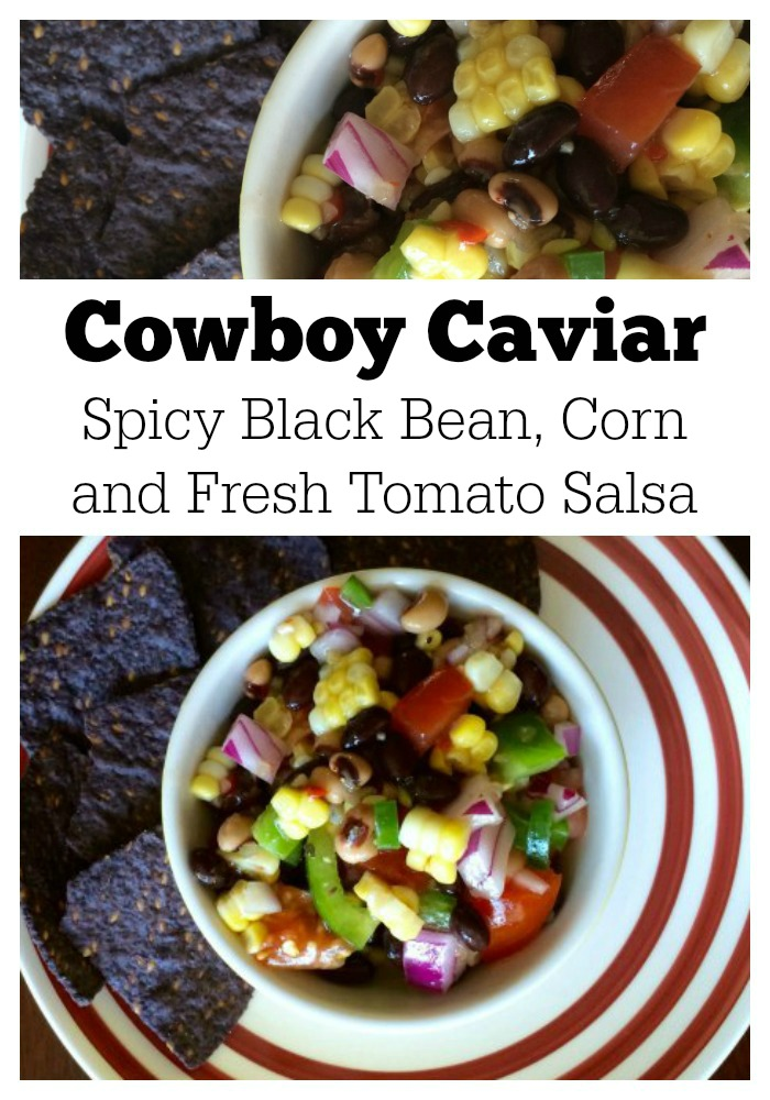 Cowboy Caviar: Spicy Black Bean, Corn and Fresh Tomato Salsa. If you make one dish this summer -- this is it! | Mommy Evolution