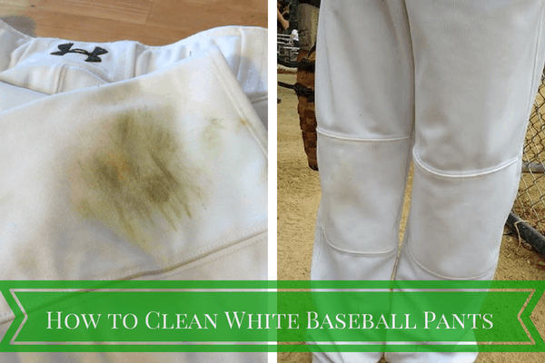 Baseball season has started! How to Clean White Baseball Pants. Tip from Blogging Mom of 4