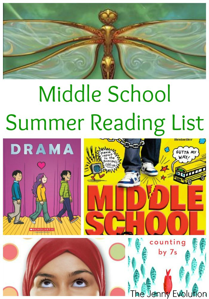 middle school summer reading list for grades 6 8