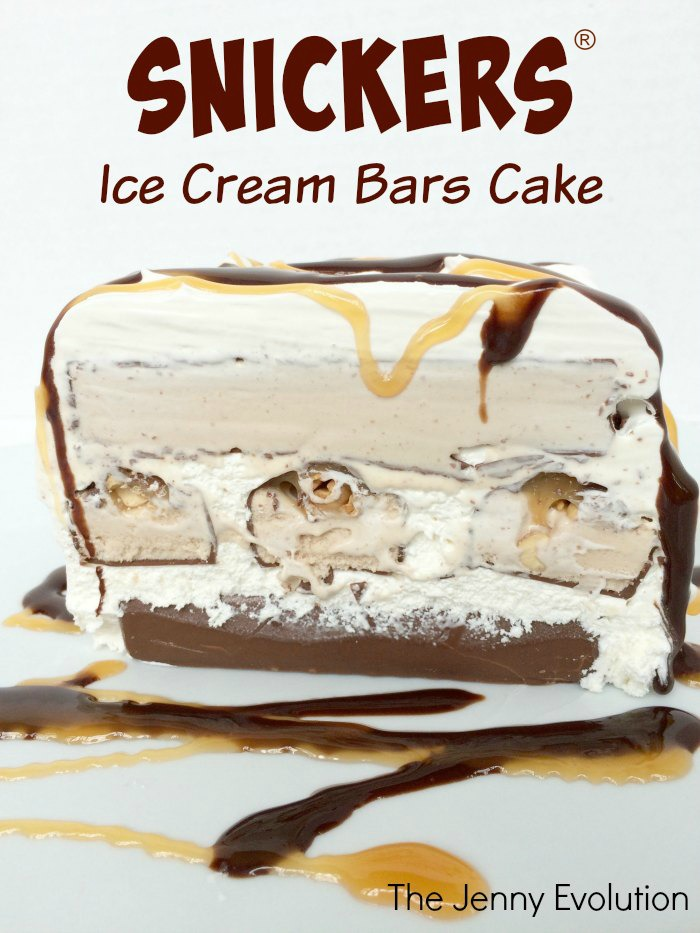 Snickers® Cake! Snickers Ice Cream Bars Cake Recipe | Mommy Evolution