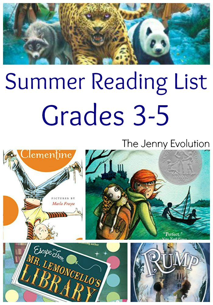 Summer Reading Book List for Elementary Grade 3, Grade 4 and Grade 5 | Mommy Evolution