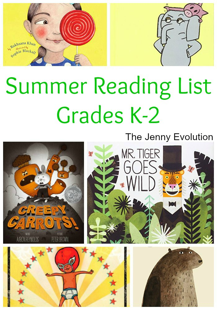 Summer Reading List for Kids in Kindergarten, 1st Grade and 2nd Grade | Mommy Evolution