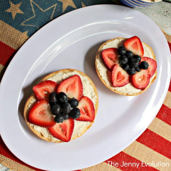 4th of July Strawberry Blueberry Breakfast