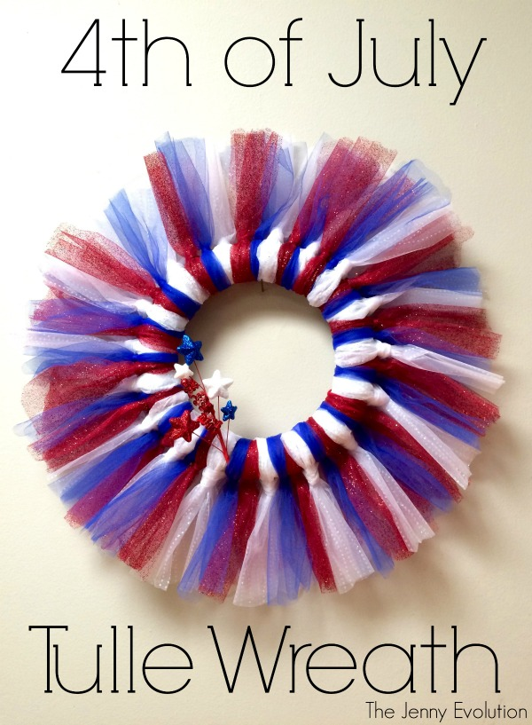 Fourth of July Tulle Wreath by The Jenny Evolution