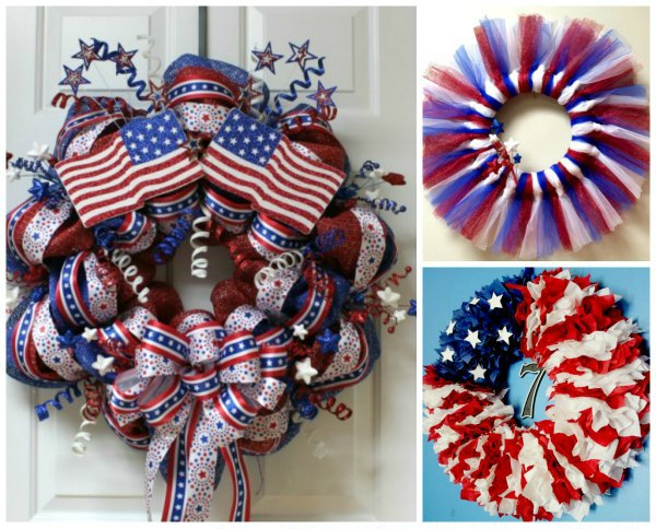 4th of july patriotic wreaths